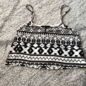 Nollie Sheer Black and White Crop Top